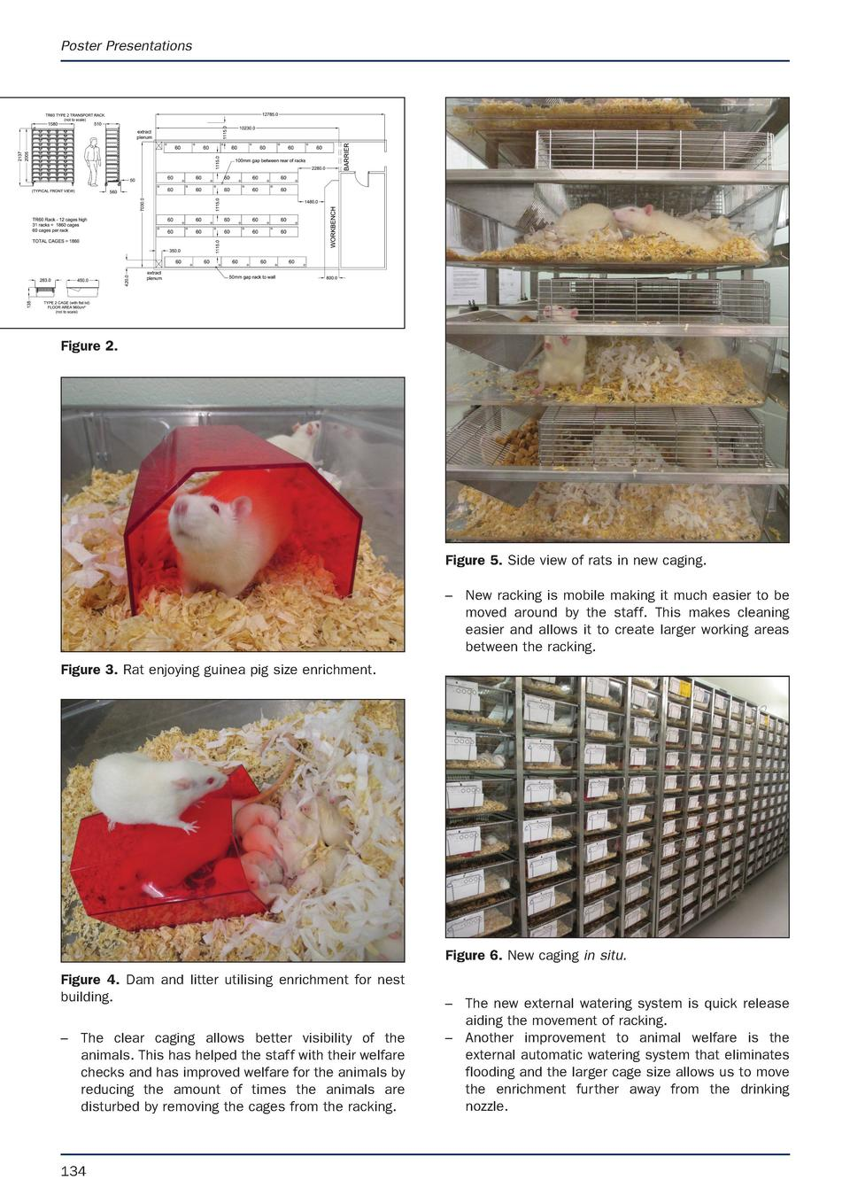 Poster Presentations  Figure 2.  Figure 5. Side view of rats in new caging.     New racking is mobile making it much easie...
